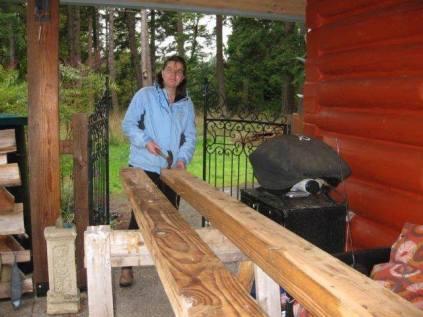 Belgian WWOOFer Geraldine Denailing Boards