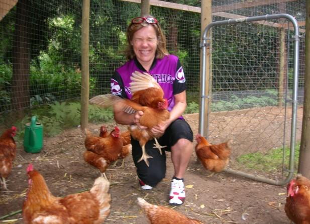 Biker Chick & Hens