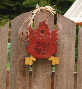 Chicken Gate Sign
