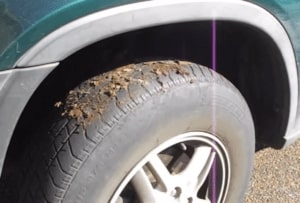 Dirty Car Tire