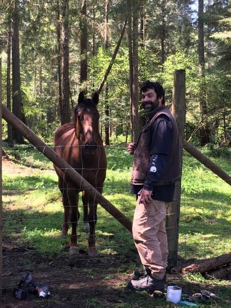 Derek With Quarter Horse, Blue