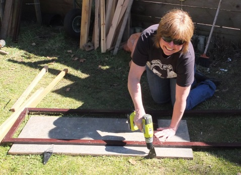 Tracy Adding The Droppings Board Trim