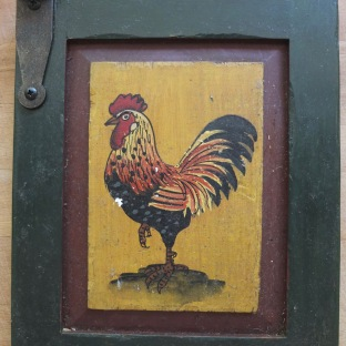Rooster Painted Plaque