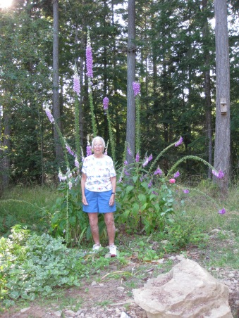 Mum In Her Cottage Garden 2011