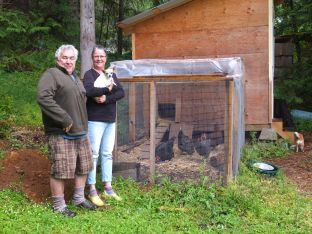 Nanette & Steve With Their Flock