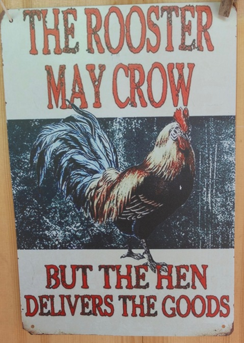 Laura's Rooster Sign