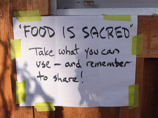 Food Recovery Sign