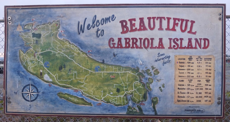 Gabriola Welcome Sign