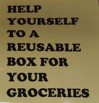Reusable Box Sign