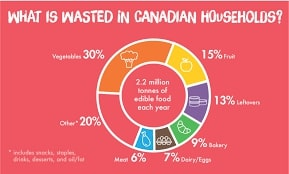 What Is Wasted In Canadian Households?